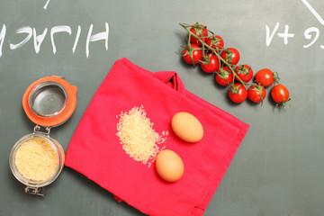 Zutaten für Reisgericht