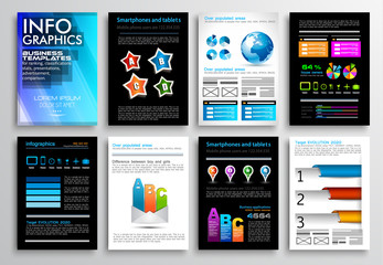 Set of Flyer Design, Web Templates. Brochure Designs, Technology