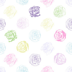 Beautiful  background with abstract colored roses