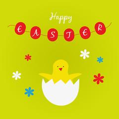 Postcard Easter chicken