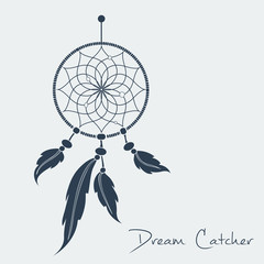 vector dream catcher black