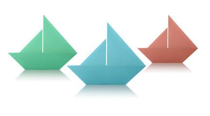Origami Paper Sailing Boats