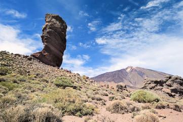 Cliff near volcano Teide,