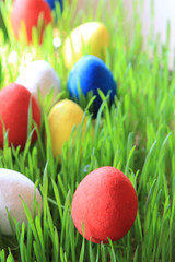 czech easter eggs background
