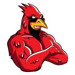 Cardinal Bird Mascot