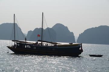 Ha Long Bay - Vietnam. Tourist boat.