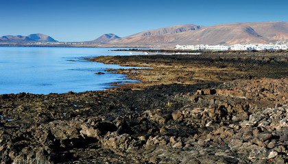 Atlantic coast, Lanzarote Island, Canary Islands, Spain