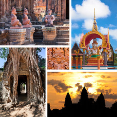 cambodian architecture with carving