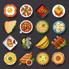 dishes icon set-2