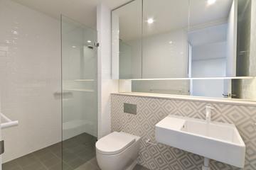 modern bathroom in luxury apartment
