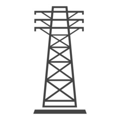 Transmission tower, high voltage