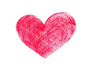Heart drawn on white backround