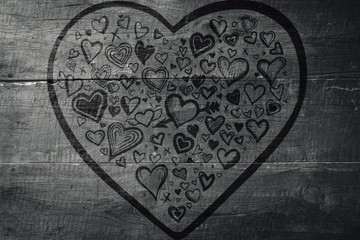 Wall Mural - Composite image of heart