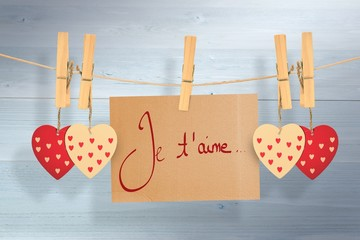 Wall Mural - Composite image of valentines love hearts
