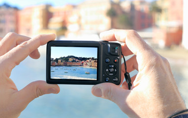 taking picture of Silence bay to Sestri Levante
