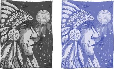 native american chief profile