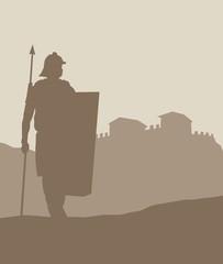 roman soldier silhouette