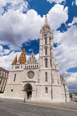 Matthias Church in Budapest, Hungary in the center of Buda Castl