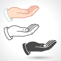 Vector Hands Giving Gesture