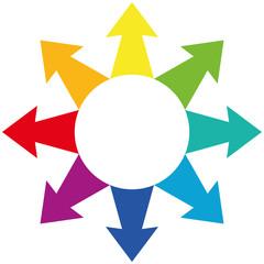 Arrows Centrifugal Rainbow Colors