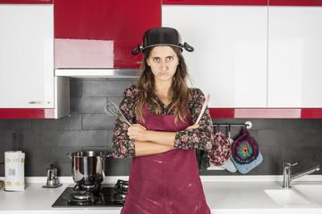 casalinga in sciopero