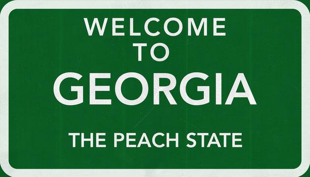 Welcome to Georgia USA Road Sign