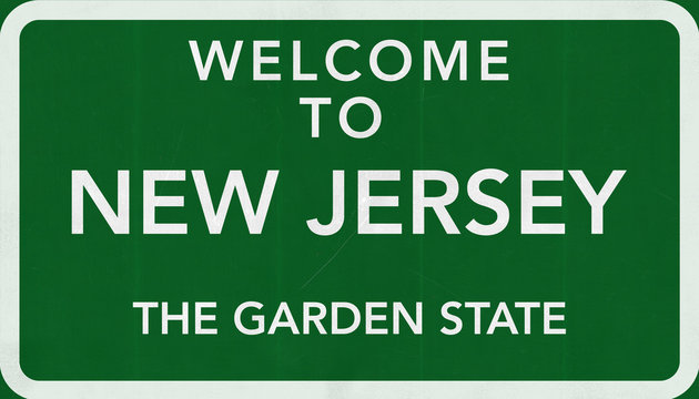 Welcome to New Jersey USA Road Sign