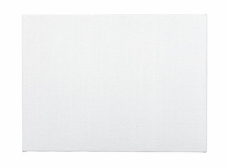 Canvas stretched on wooden frame, isolated on white