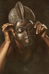 Wall Mural - masque africain danse