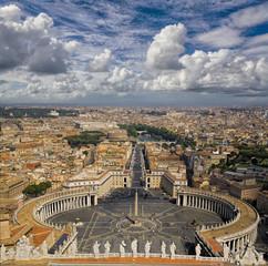 Wall Mural - Blick vom Papspalast auf Rom