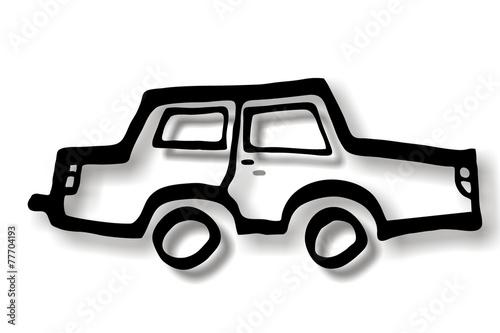 Auto PKW Skizze\