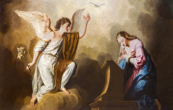 Vienna - Annunciation paint in presbytery of Salesianerkirche