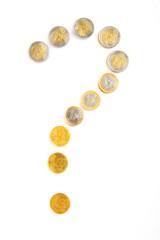 Money question sign. Element of finance design