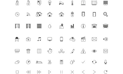 Home Automation ,Smart Home, Icon set