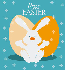 Happy easter design, vector illustration.