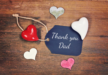 lovely greeting card - thank you dad