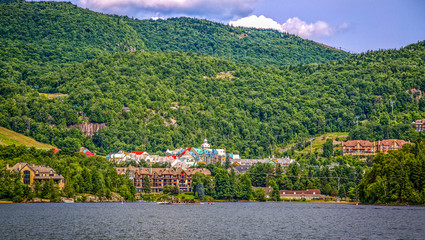 Panoramic view of Mont tremblant village.