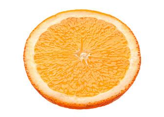 Orange slice on white