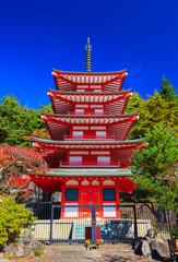 Fototapete - Chureito Pagoda, Fujiyoshida, Japan