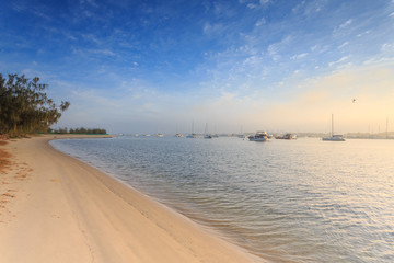 Australian foggy morning at Broadwater