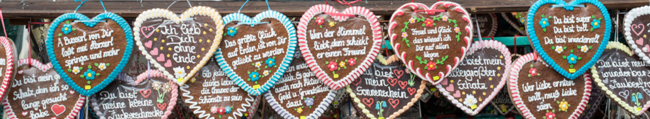 Gingerbread hearts at the Oktoberfest