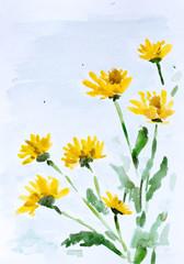Flowers, watercolor painting