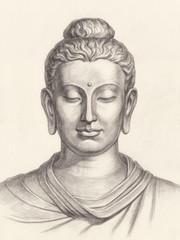 Изображение Будды, графика.