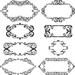 Victorian swirl set