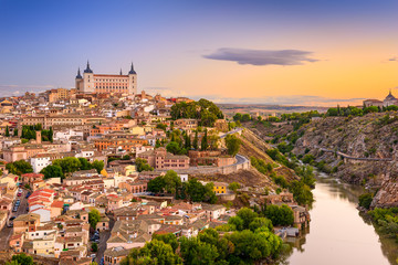 Toledo, Spain old city over the Tagus River