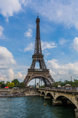Eiffel Tower and the Pont d'Iena in Paris, France
