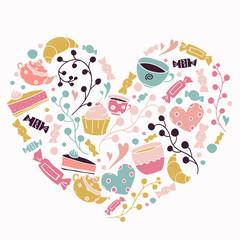 pastries, sweet,love