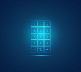 Mobile Phone Keypad Illustration