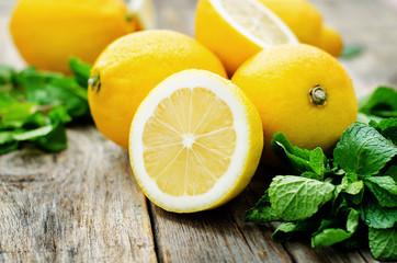lemons and mint Fototapete