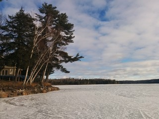 Canada ice lake